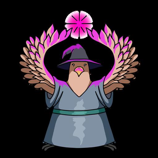 Wizard pigeon color stroke