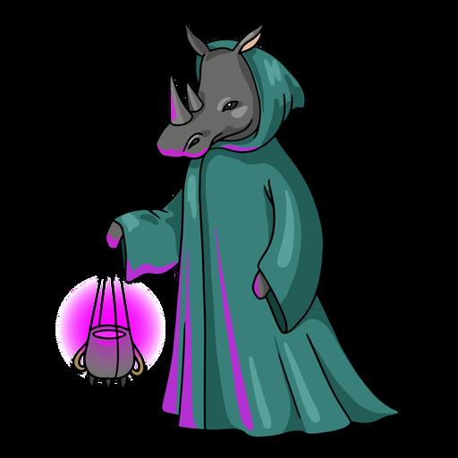 Wizard rhino color stroke
