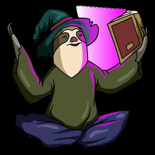Wizard sloth color stroke