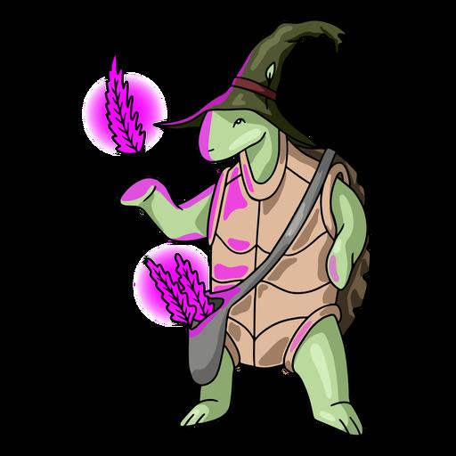 Wizard turtle color stroke