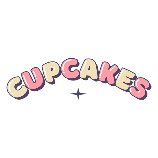 Cupcakes lettering label