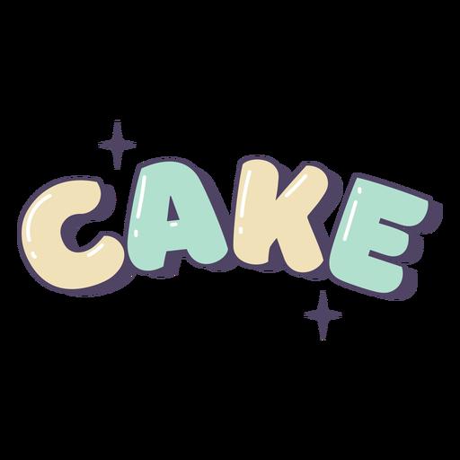 Glossy cake label