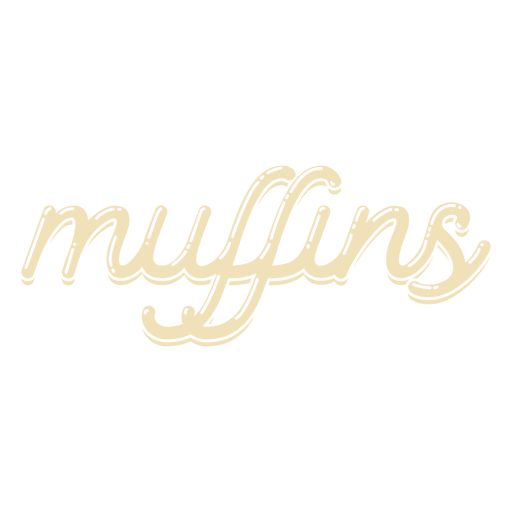 Muffins cut out lettering label