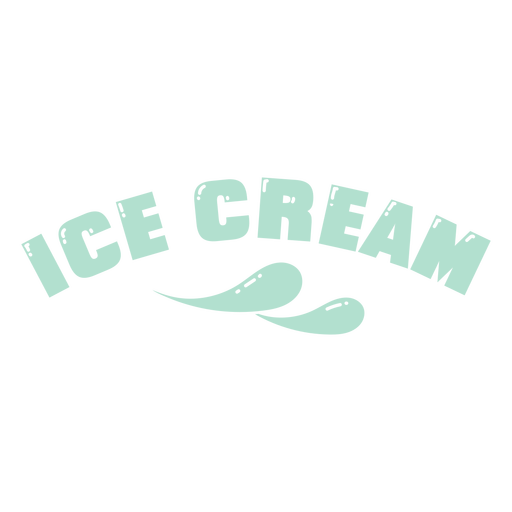 Ice cream cut out lettering label