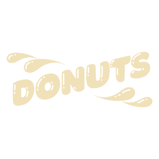 Donuts cut out lettering label