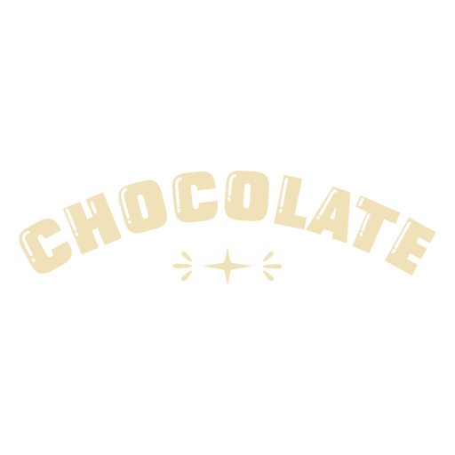 Glossy chocolate label