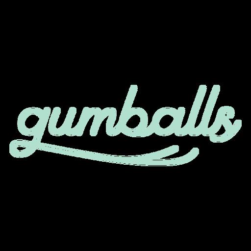 Glossy gumballs label
