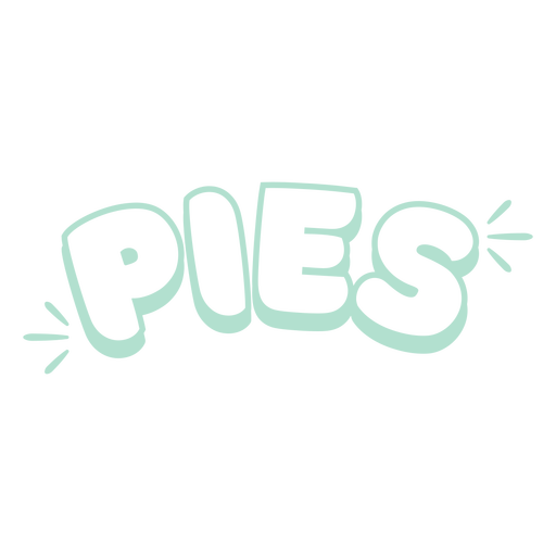 Pies label filled stroke
