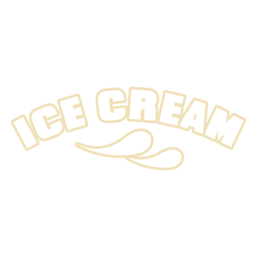 Ice cream quote badge