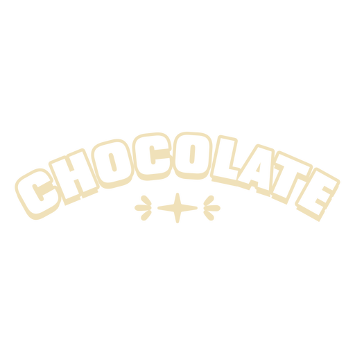 Chocolate label filled stroke