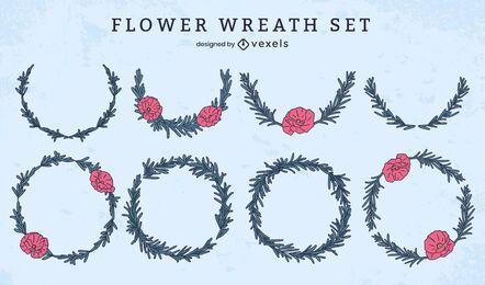 Conjunto conmemorativo decorativo de corona de flores