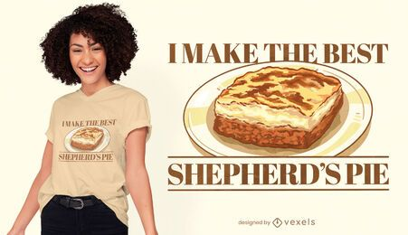 Diseño de camiseta de ilustración de comida de pastel