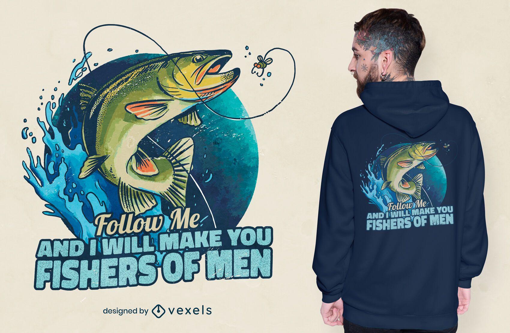 Fisch Meerestier Zitat T-Shirt Design