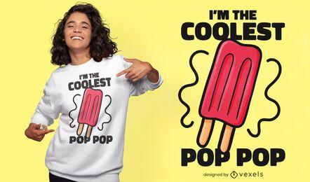 Diseño de camiseta con cita pop de helado