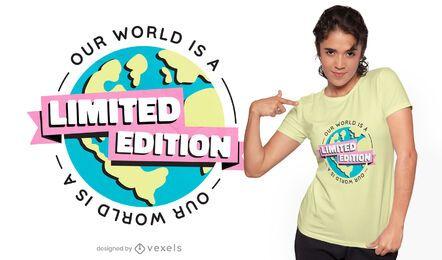 Design de camiseta em edição limitada do planeta Terra