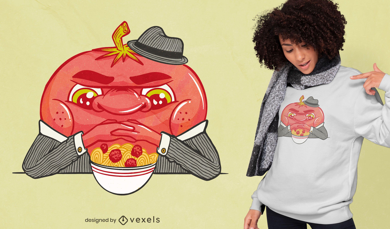 Tomato mafia spaghetti t-shirt design