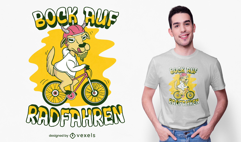 Design de t-shirt de bicicleta para andar de cabra
