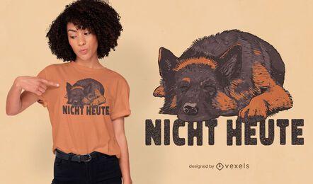 Diseño de camiseta para mascota perro pastor alemán.