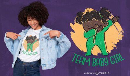 Baby girl dabbing divertido diseño de camiseta