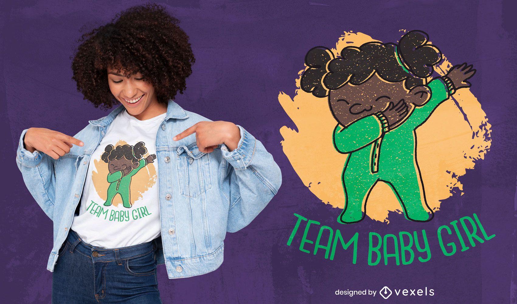 Baby girl dabbing funny t-shirt design