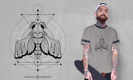 Geometric cicada insect t-shirt design