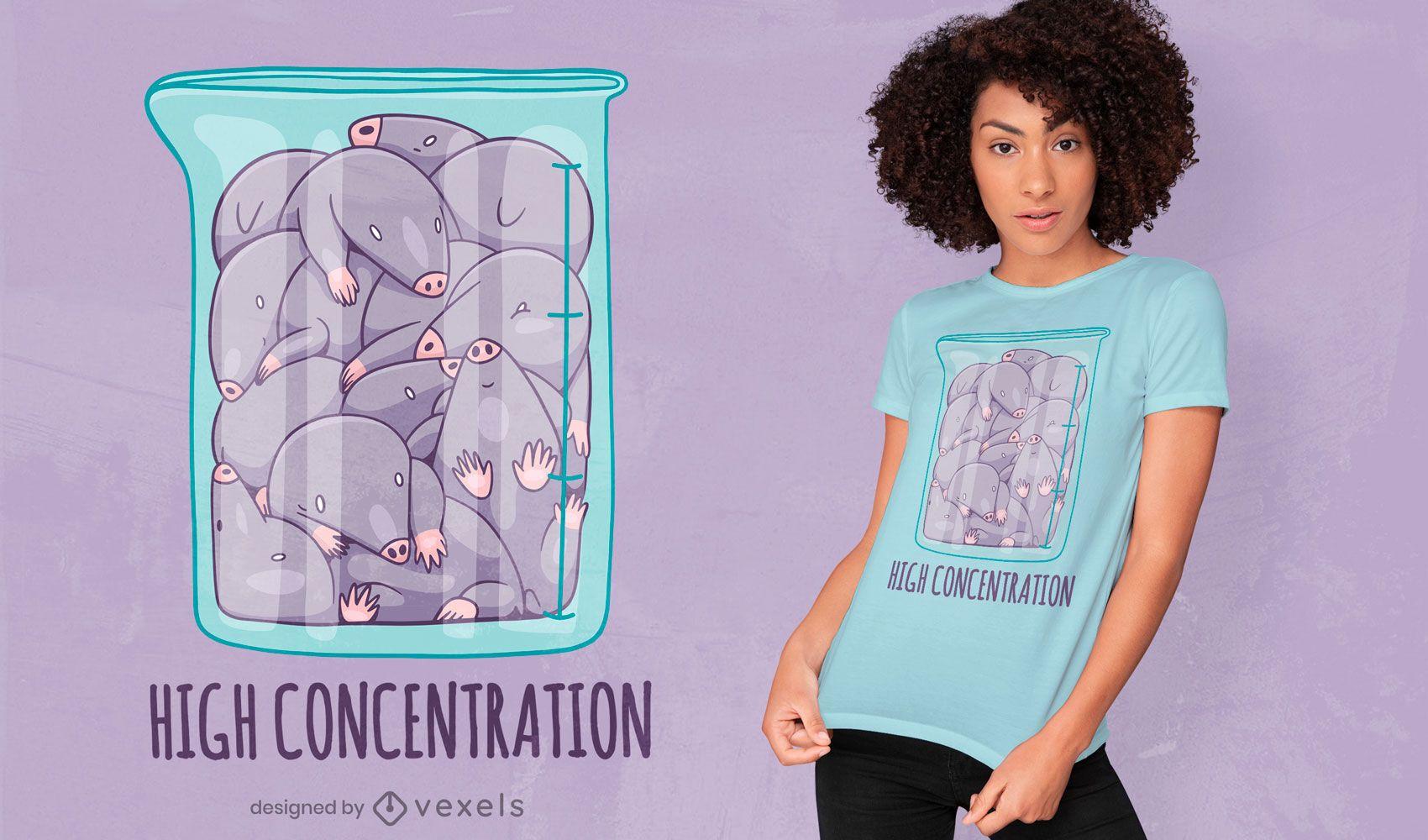 Mole animals in jar cute t-shirt design