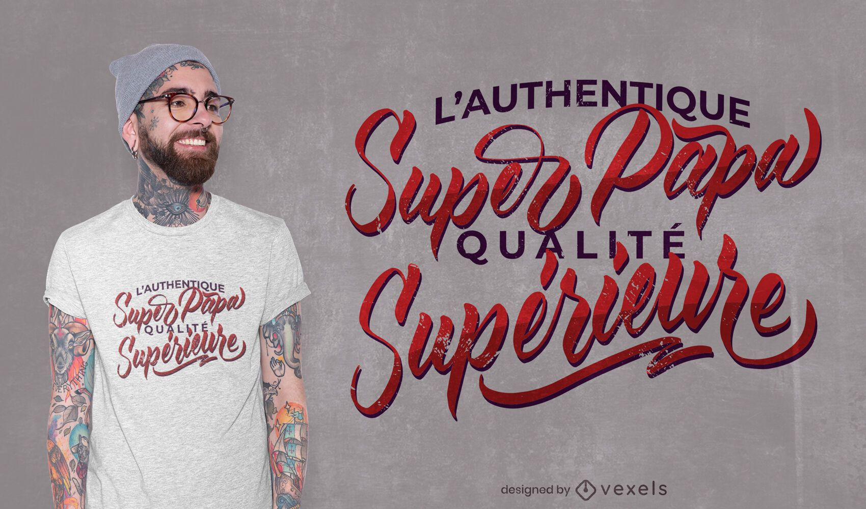 Super dad french quote t-shirt design