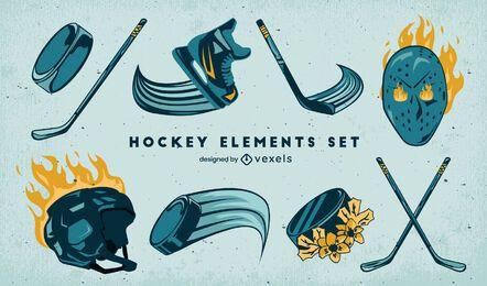 Equipo de fuego deportivo de hockey sobre hielo.