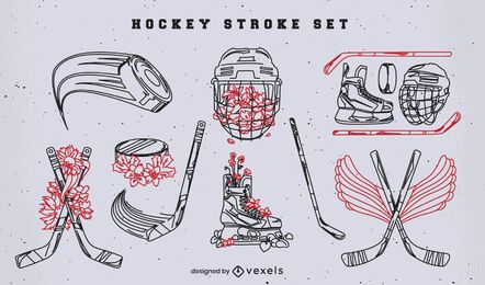 Ice hockey sport equipment stroke pack