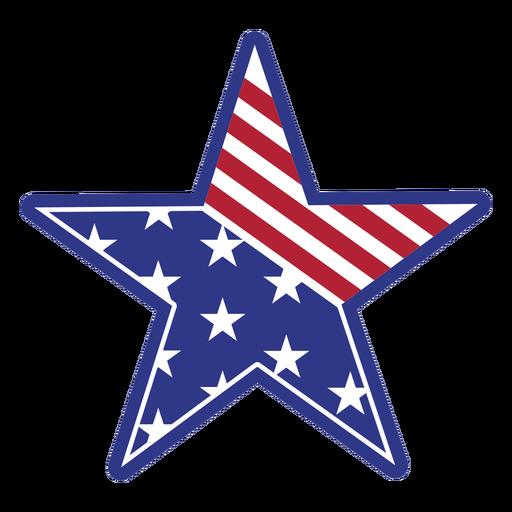Cuarto de julio-StarsAndStripes-DetalladoRealisticSilhouette-CR - 2