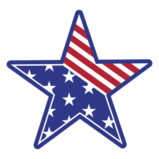 Star american color stroke badge