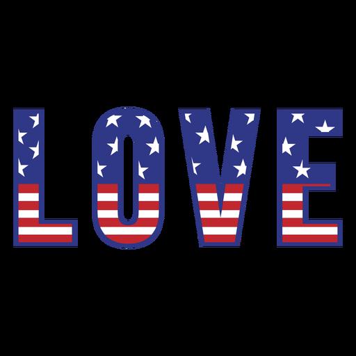 Love american badge color stroke
