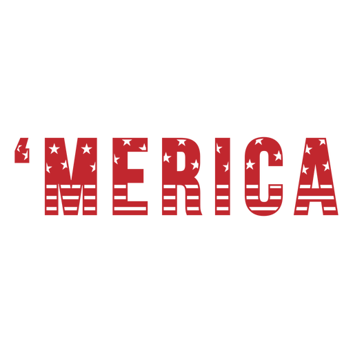 Merica text badge cut out