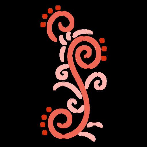 Pale red swirls stroke