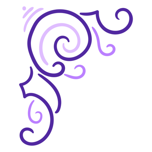 Violet swirls stroke