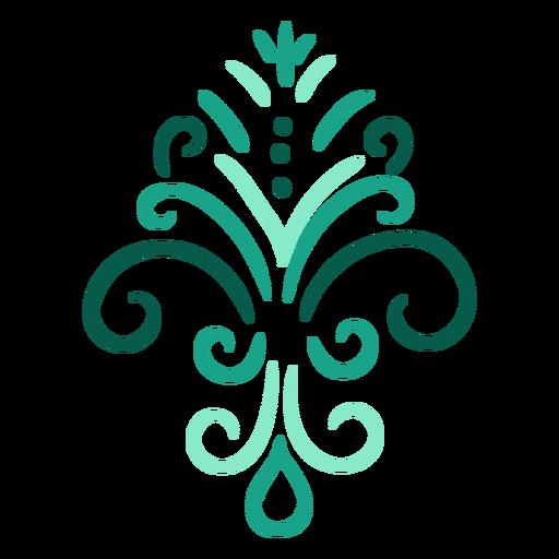 Symmetric swirls stroke