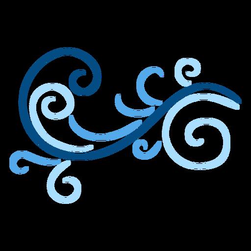 Blue swirl stroke