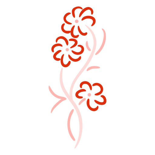Red floral swirls stroke