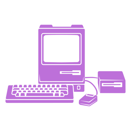 Vintage computer set cut out