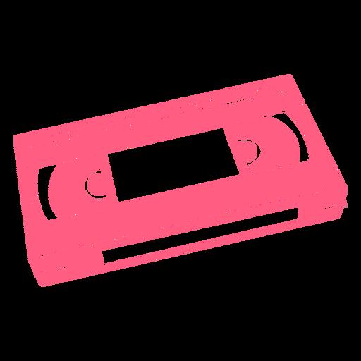 VHS videotape retro simple cut out