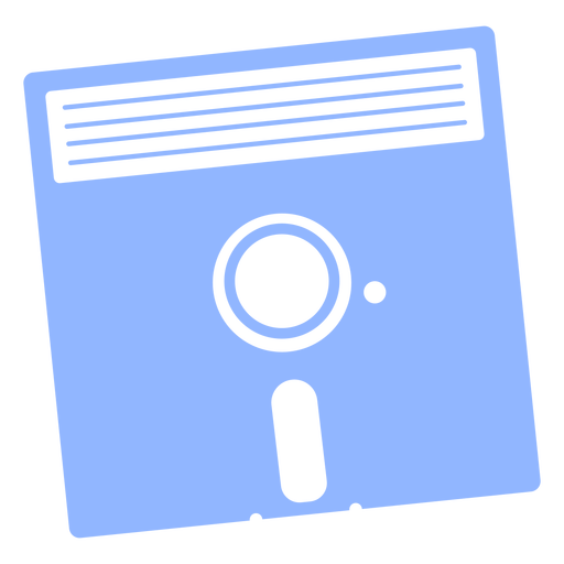 Floppy disk retro simple cut out