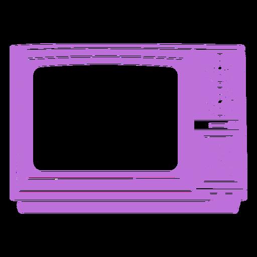 Vintage tv simple cut out