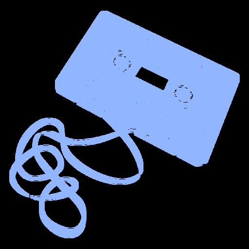 Retro cassette tape cut out