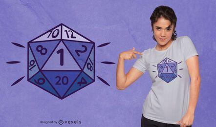 Diseño de camiseta de juego de roles dados d20.