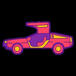 Cool vintage car color stroke