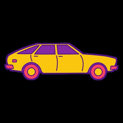 Cool vintage yellow car color stroke