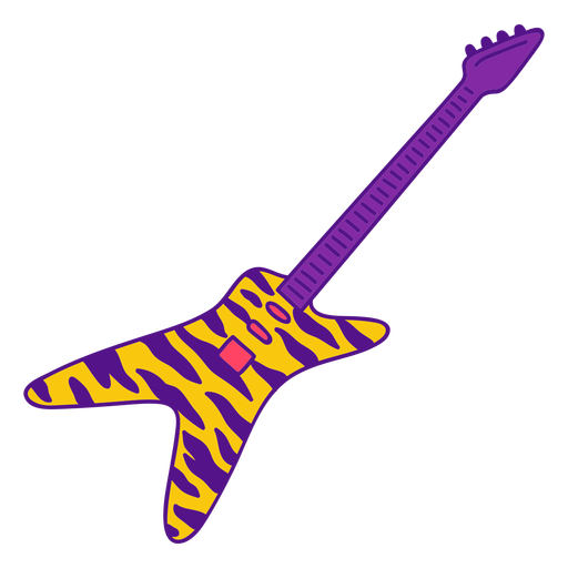 Star electric guitar color stroke