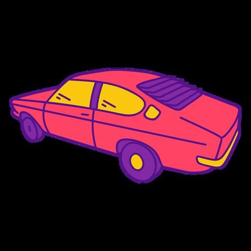 Cool pink vintage car color stroke