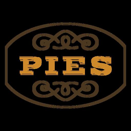 Pies label color stroke