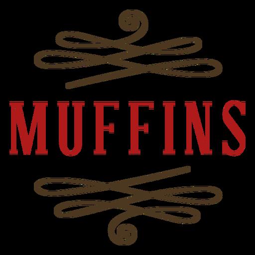 Muffins label color stroke